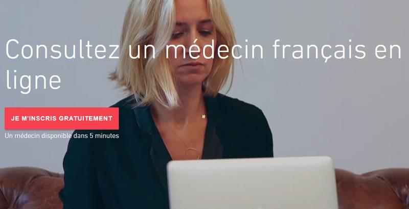 vidéo consultation avec un médecin français